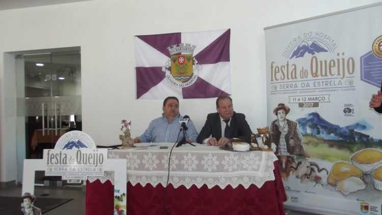 Apresentação da Festa do Queijo de Oliveira do Hospital: O actor Fernando Mendes e o presidente da Câmara José Carlos Alexandrino