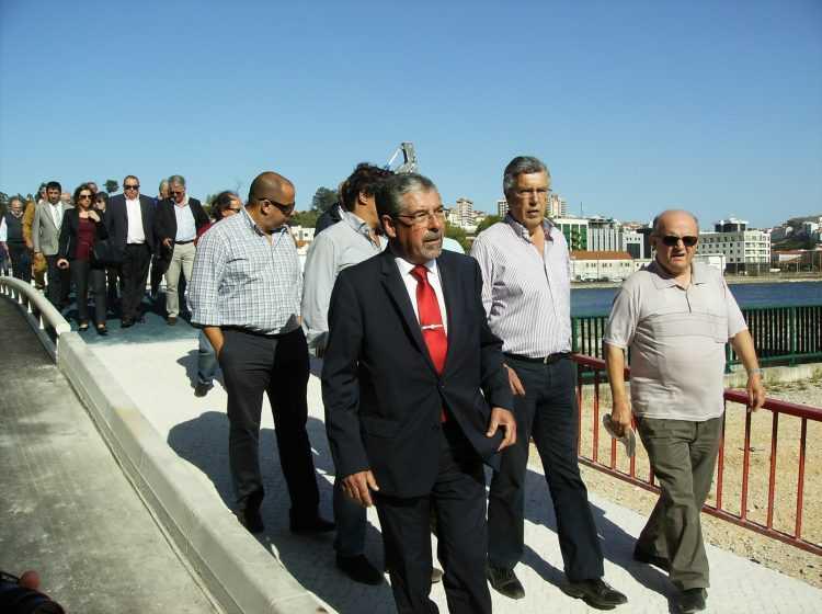 Inauguração ponte pedonal Açude