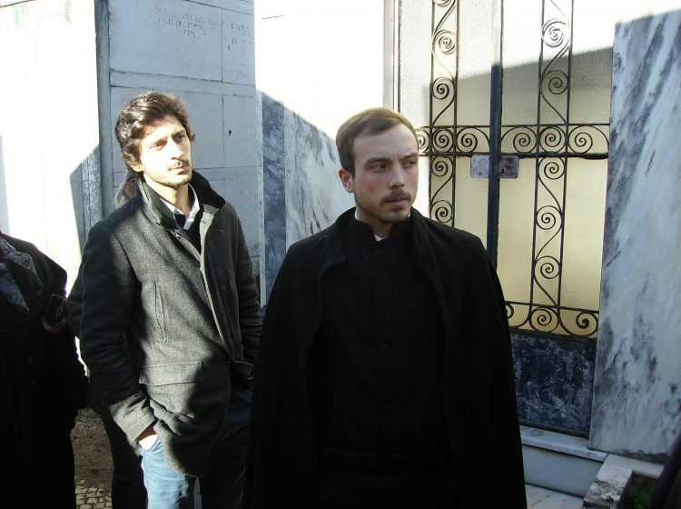Alexandre Amado, presidente da Associação Académica de Coimbra, marcou presença no funeral