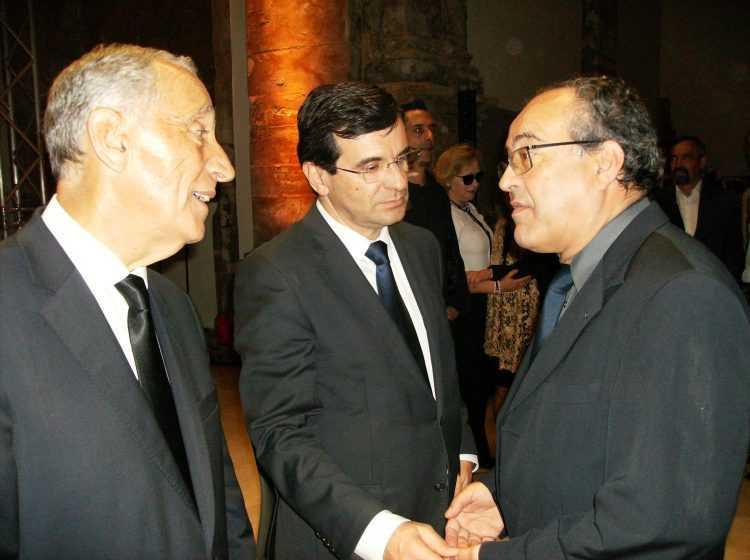 Presidente da República, ministro da Saúde e o cirurgião Manuel Antunes
