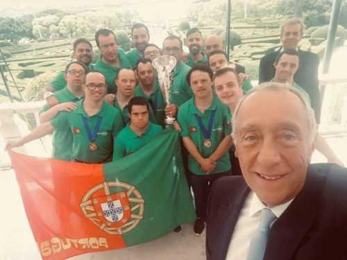 Marcelfie com Rui Sousa e selecção nacional
